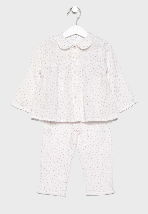Infant Printed T-Shirt + Pyjama Set