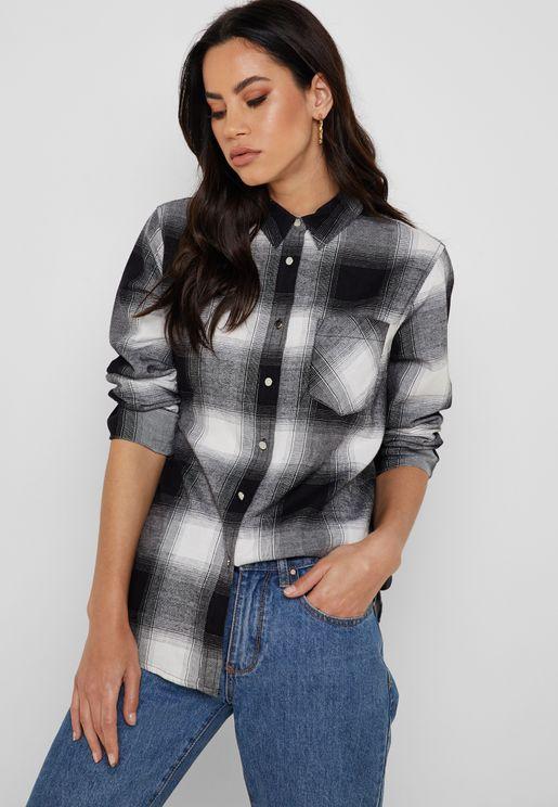 Checked Longline Shirt