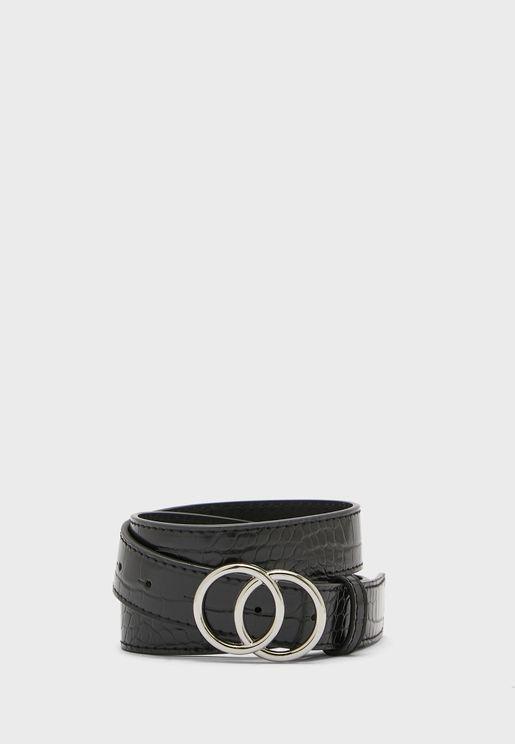 Textured Circle Belt