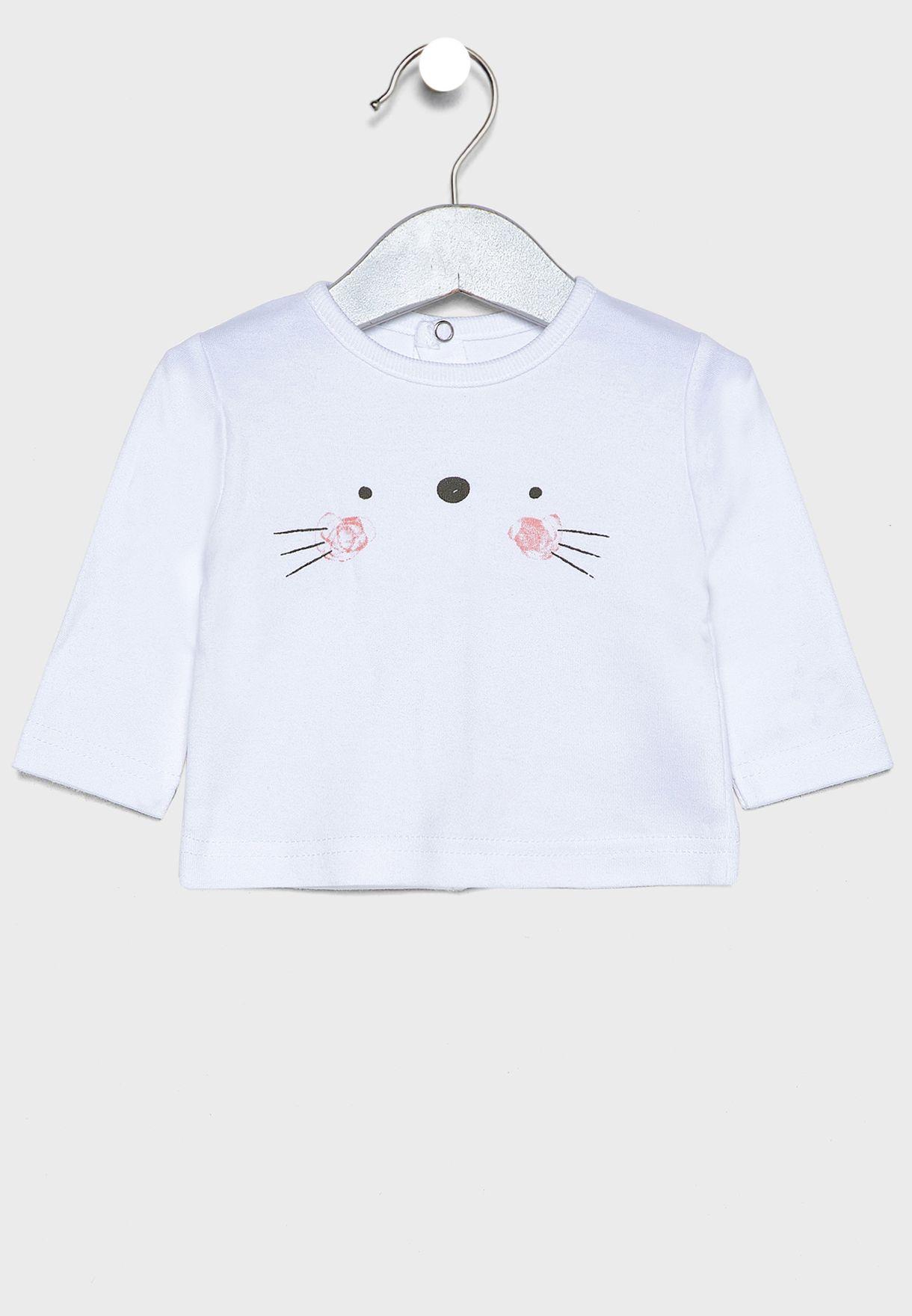 Infant Cat Face 3 Piece Gift Set