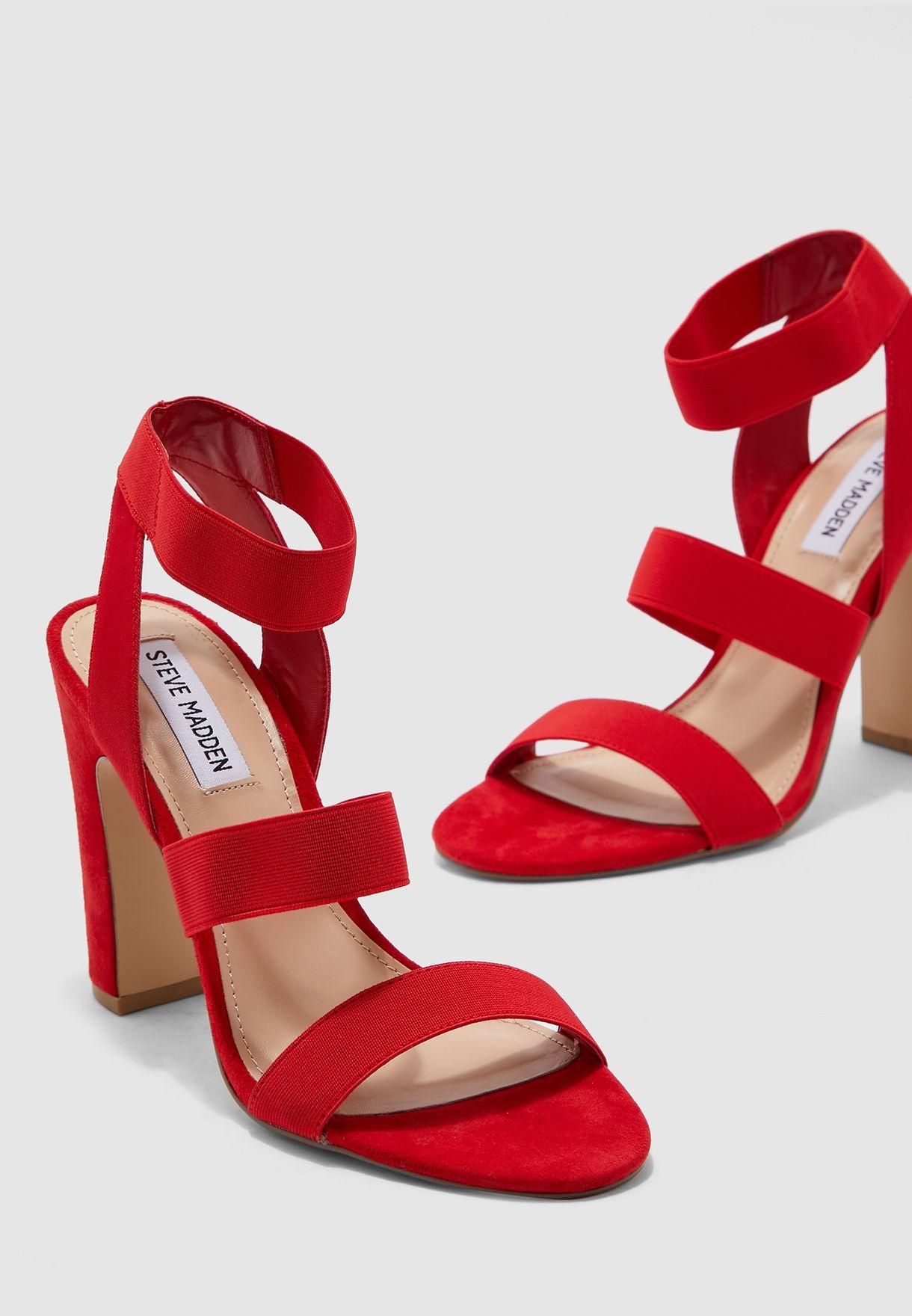 steve madden red strappy heels
