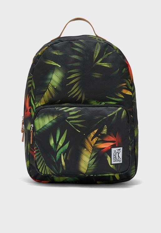 Leaves Print Classic Backpack