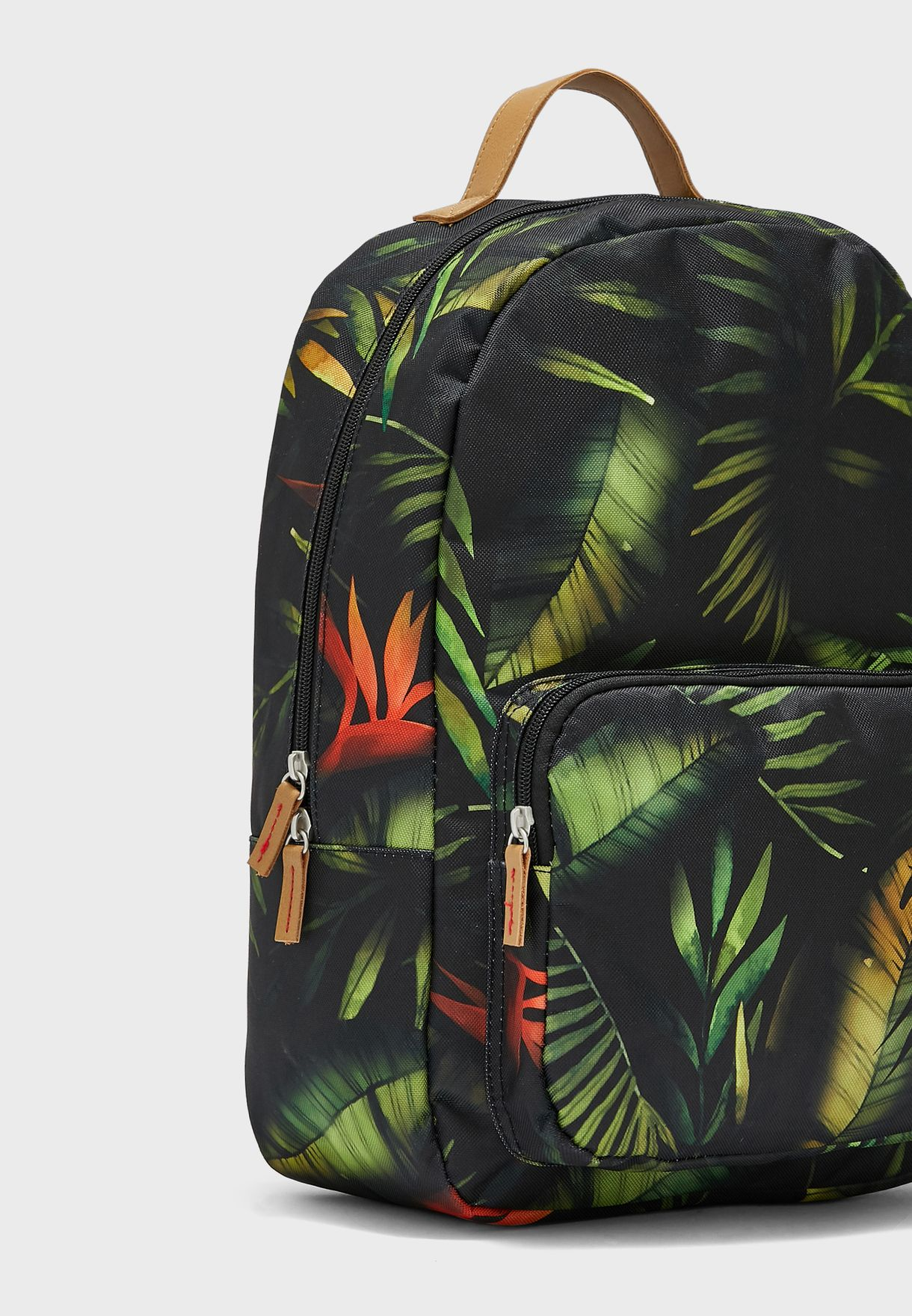 Leaves Print Classic Backpack