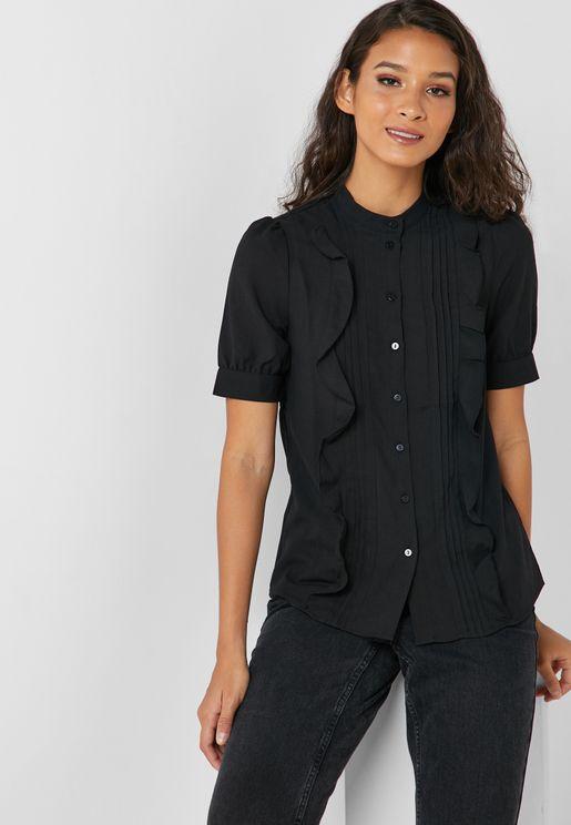 191fda2a900 Ruffle Detail Short Sleeve Shirt
