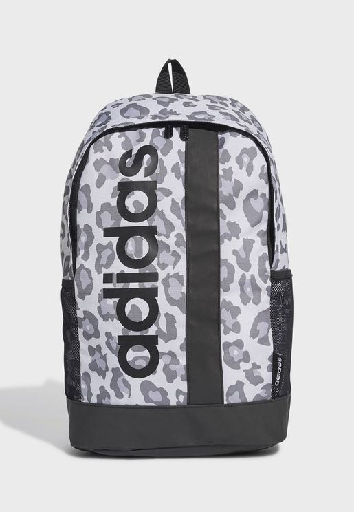 Linear Leopard Print Backpack