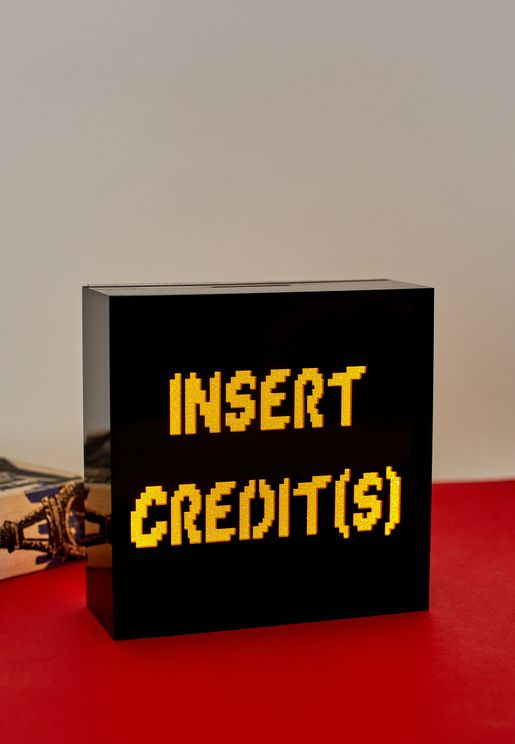 'Insert Credits' Light Up Money Box