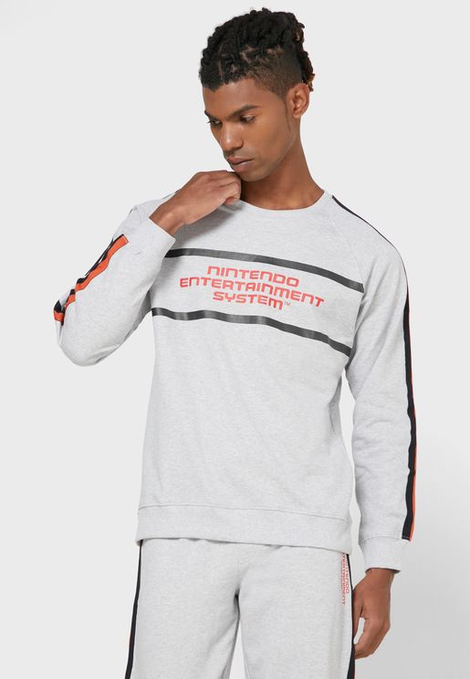 Stripe Detail Sweatshirt