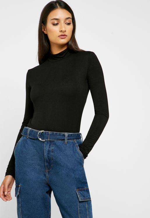 High Neck Ling Sleeve Top