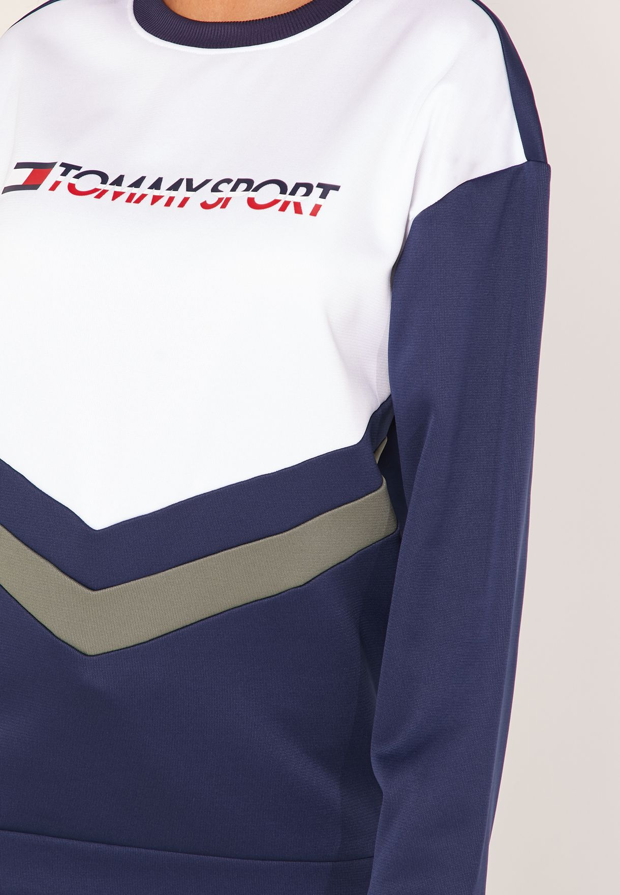 Colour Block Logo Sweatshirt