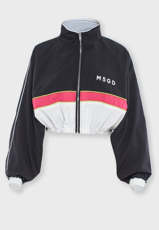 Colorblock Crop Jacket