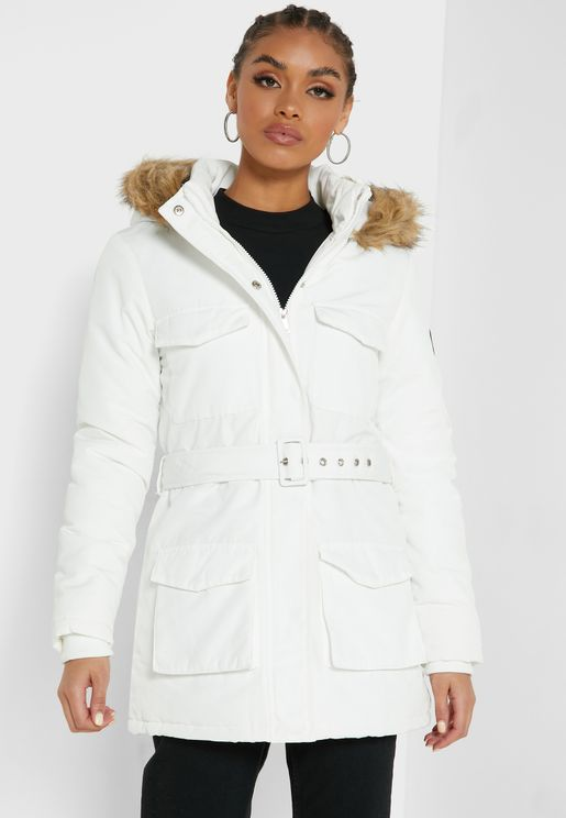 Detachable Faux Fur Puffer Jacket