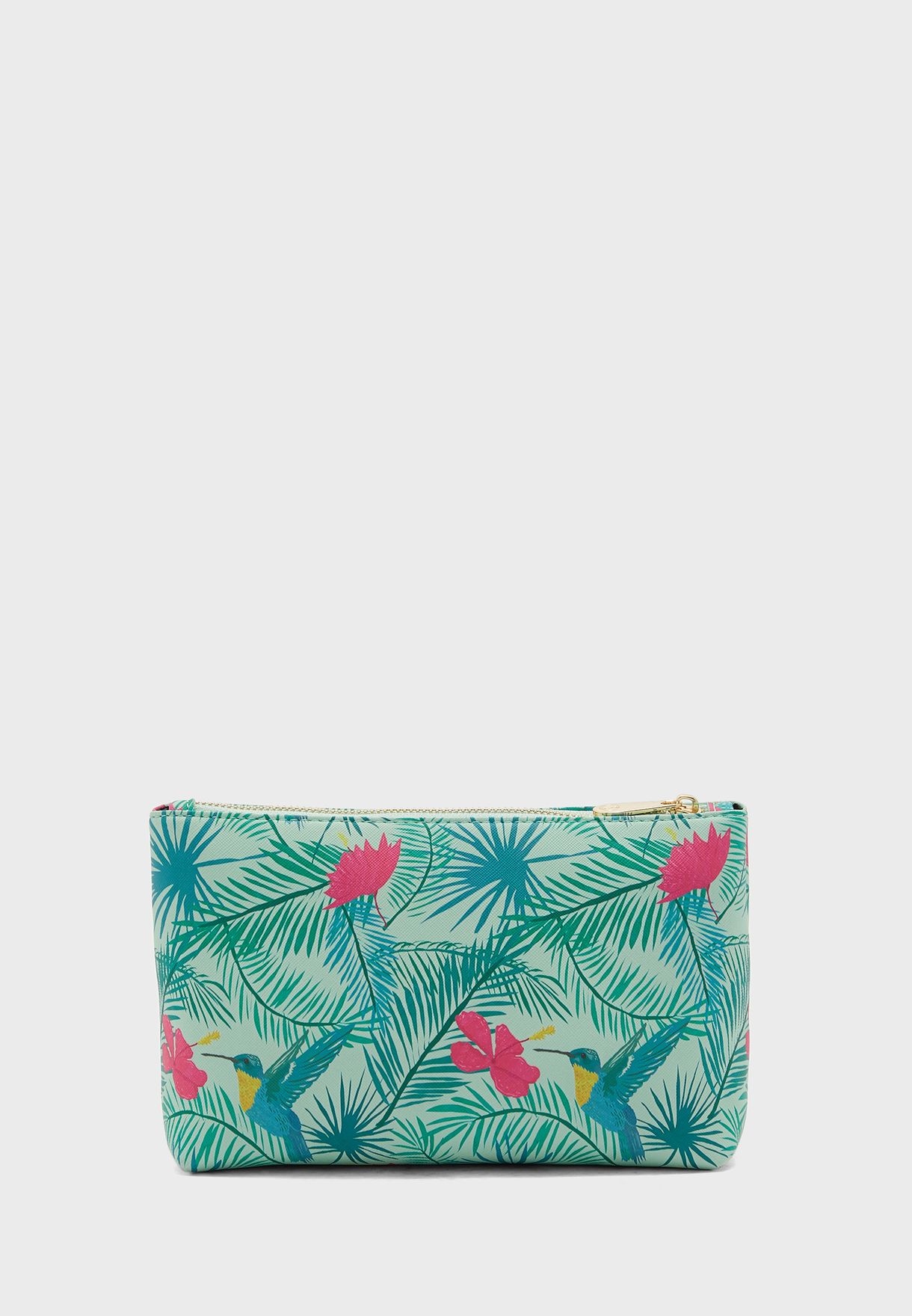 Hummingbird Printed Cosmetic Bag