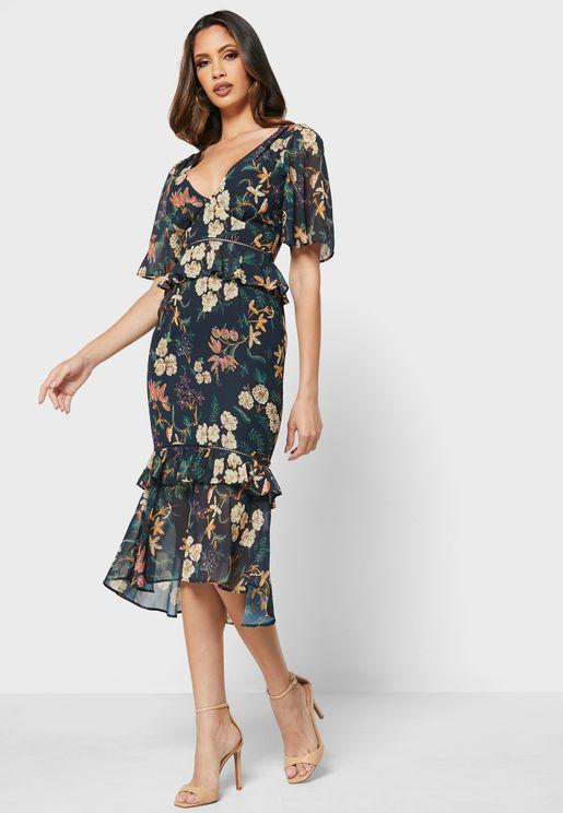Genevieve Floral Print Dress