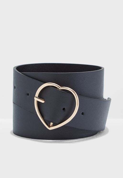Jeans Belt With Heart Buckle