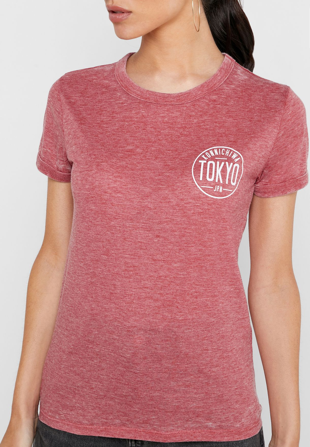 Textured Short Sleeve T-Shirt