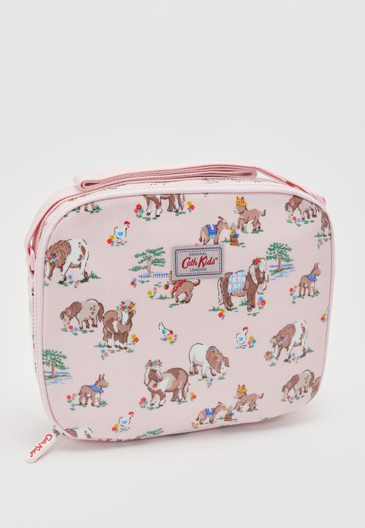 Pony Print Lined Lunch Bag