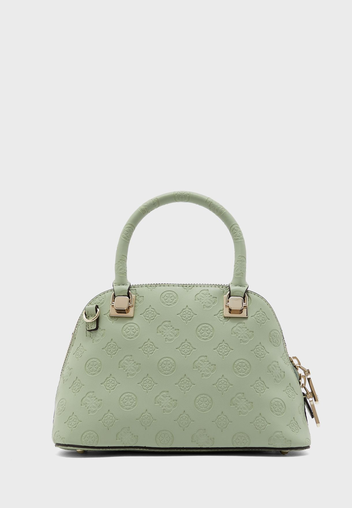 Peony Front Button Dome Satchel