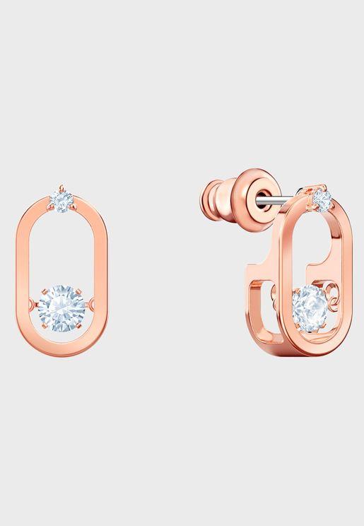 North Pierced Oval Stud Earrings