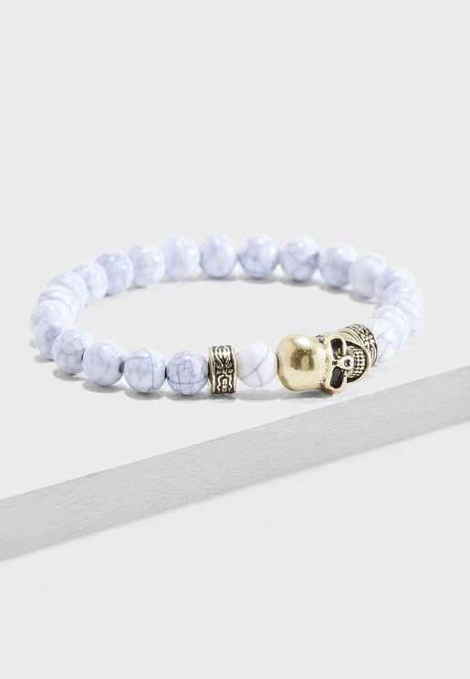 Skull Beaded Bracelet