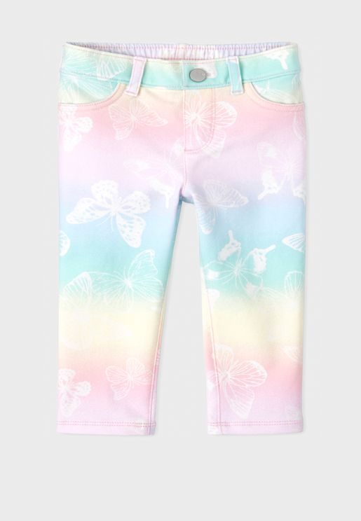 Kids Butterfly French Jegging
