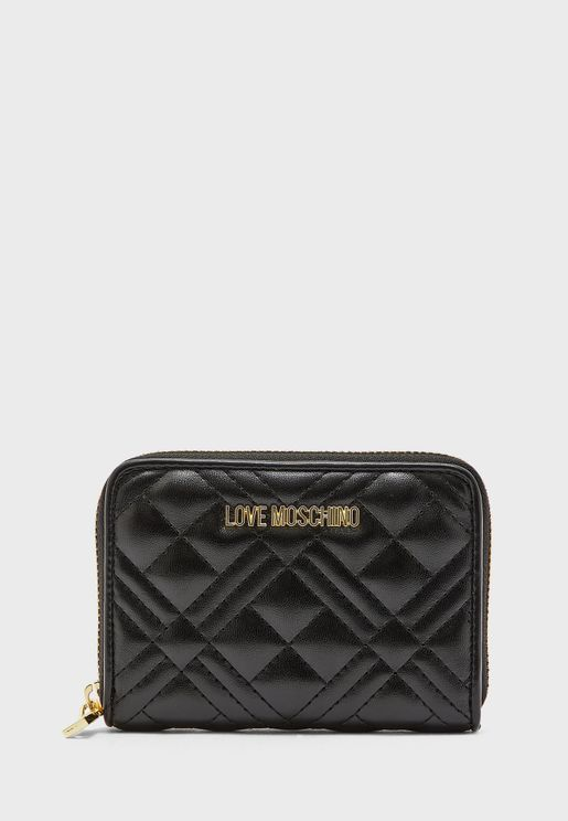 Quilted Zip Through Purse