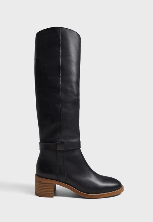 Hype High Heel Knee Boot