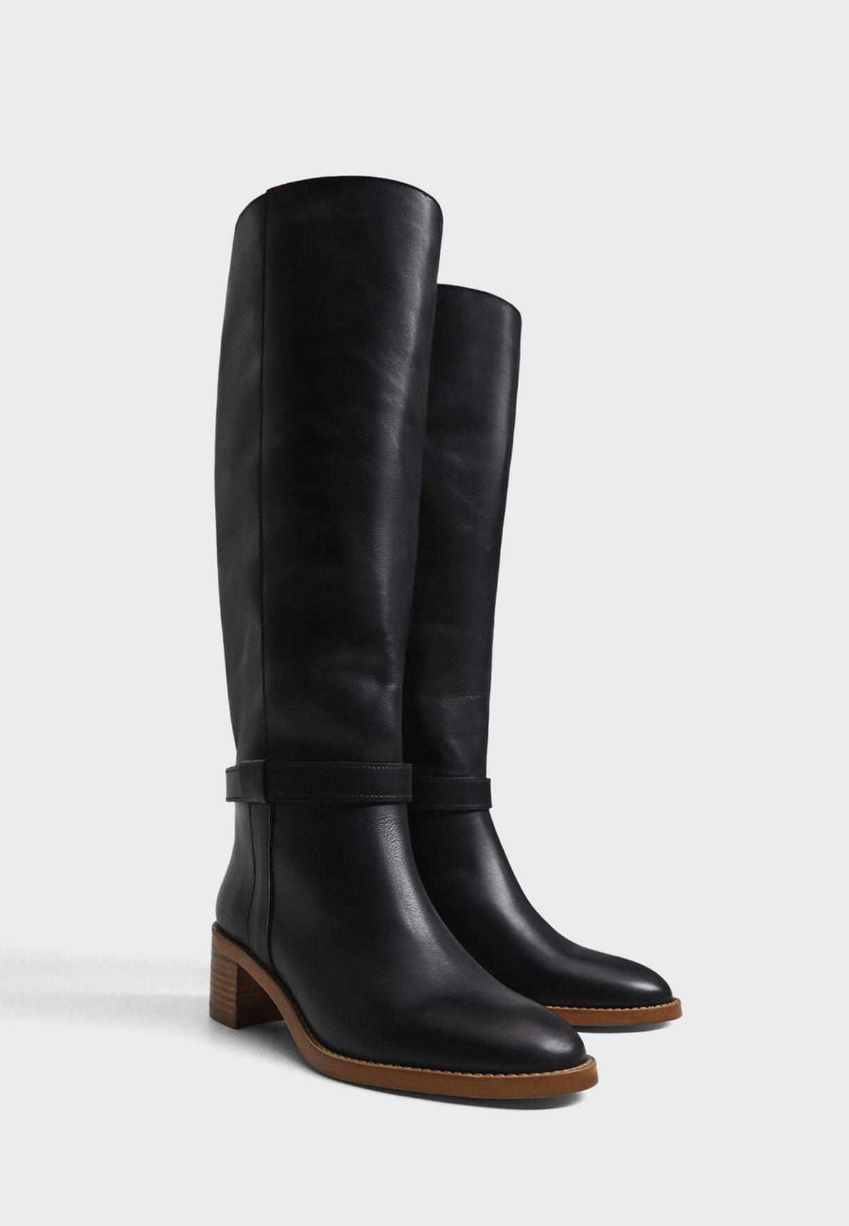 Hype High Heel Knee Boot