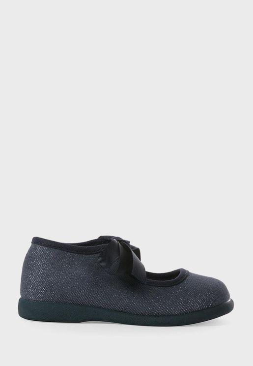 حذاء بفيونكة للبيبي