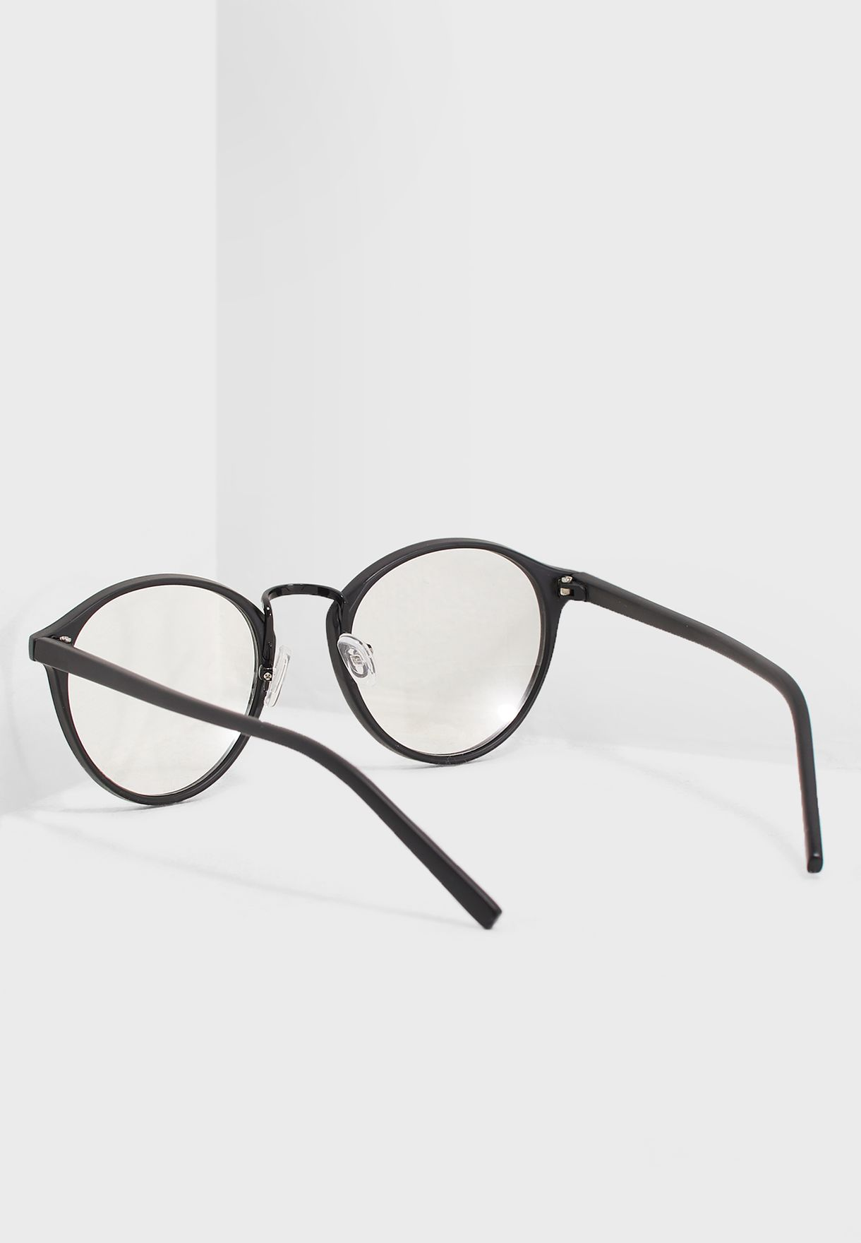 10cc1d3d45 Shop Ginger black Clear Lens Round Glasses 1850 for Women in UAE ...