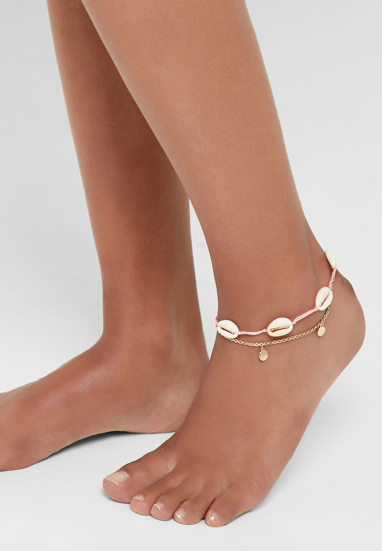 Shells and Coins Anklet Multipack