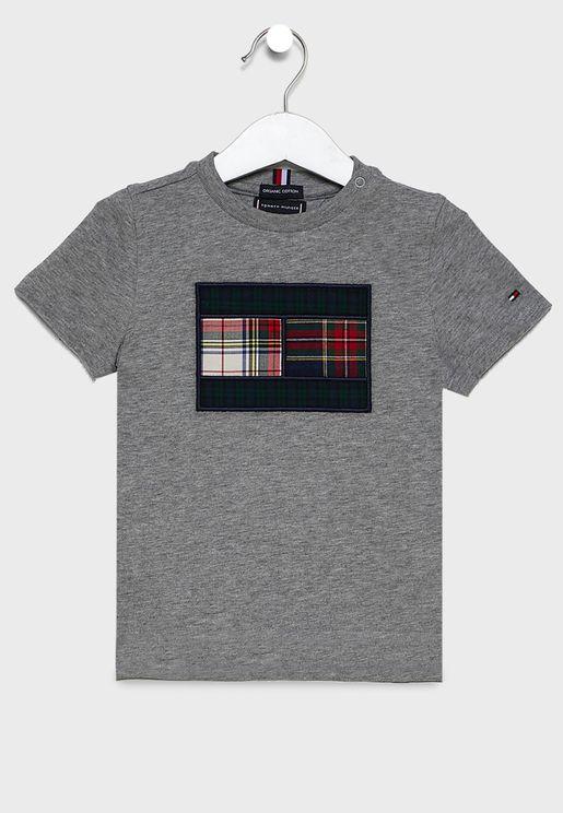Kids Mixed Checked T-Shirt