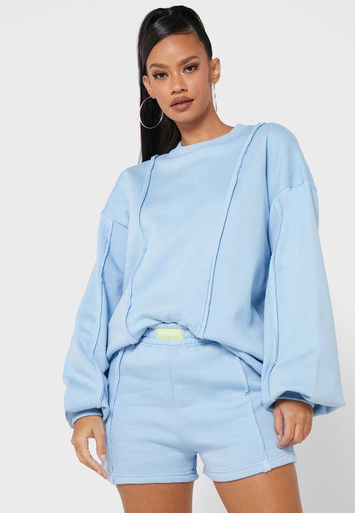 Exposed Seam Detail Sweatshirt