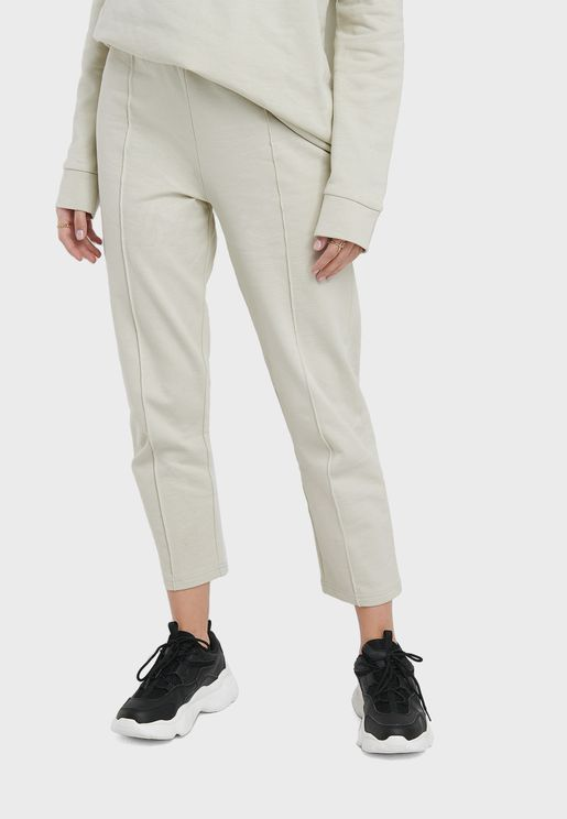 Seam Detail Cropped Joggers