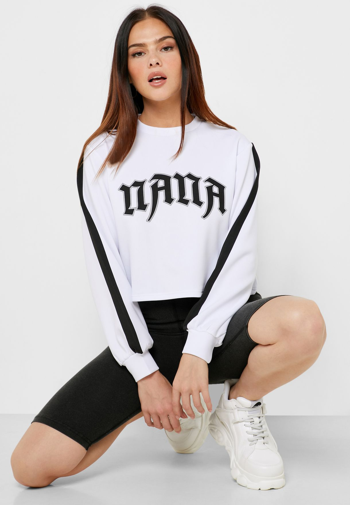 Tour Neoprene Cropped Sweatshirt