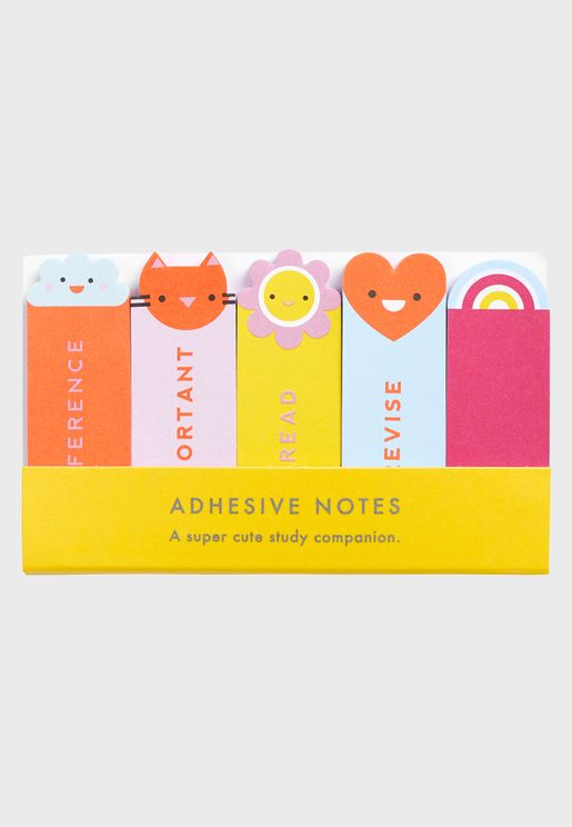 Set of 5 Study Adhesive Notes