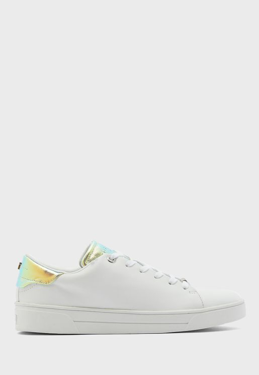 Zenno Iridescent Detail Tennis Trainer Sneaker
