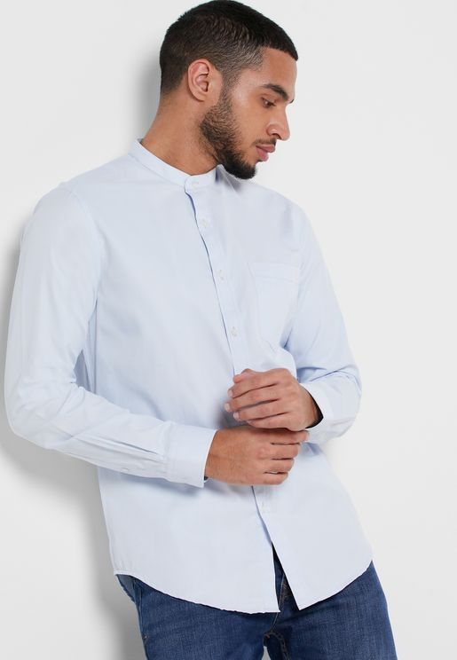 Non Iron Formal Shirt Chinese Collar