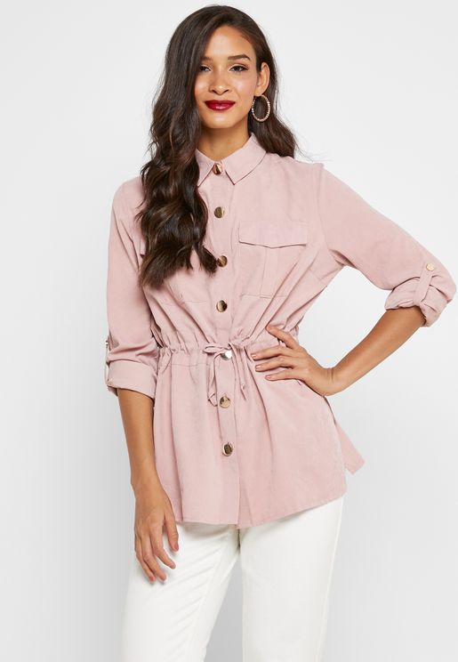 Drawstring Pocket Shirt
