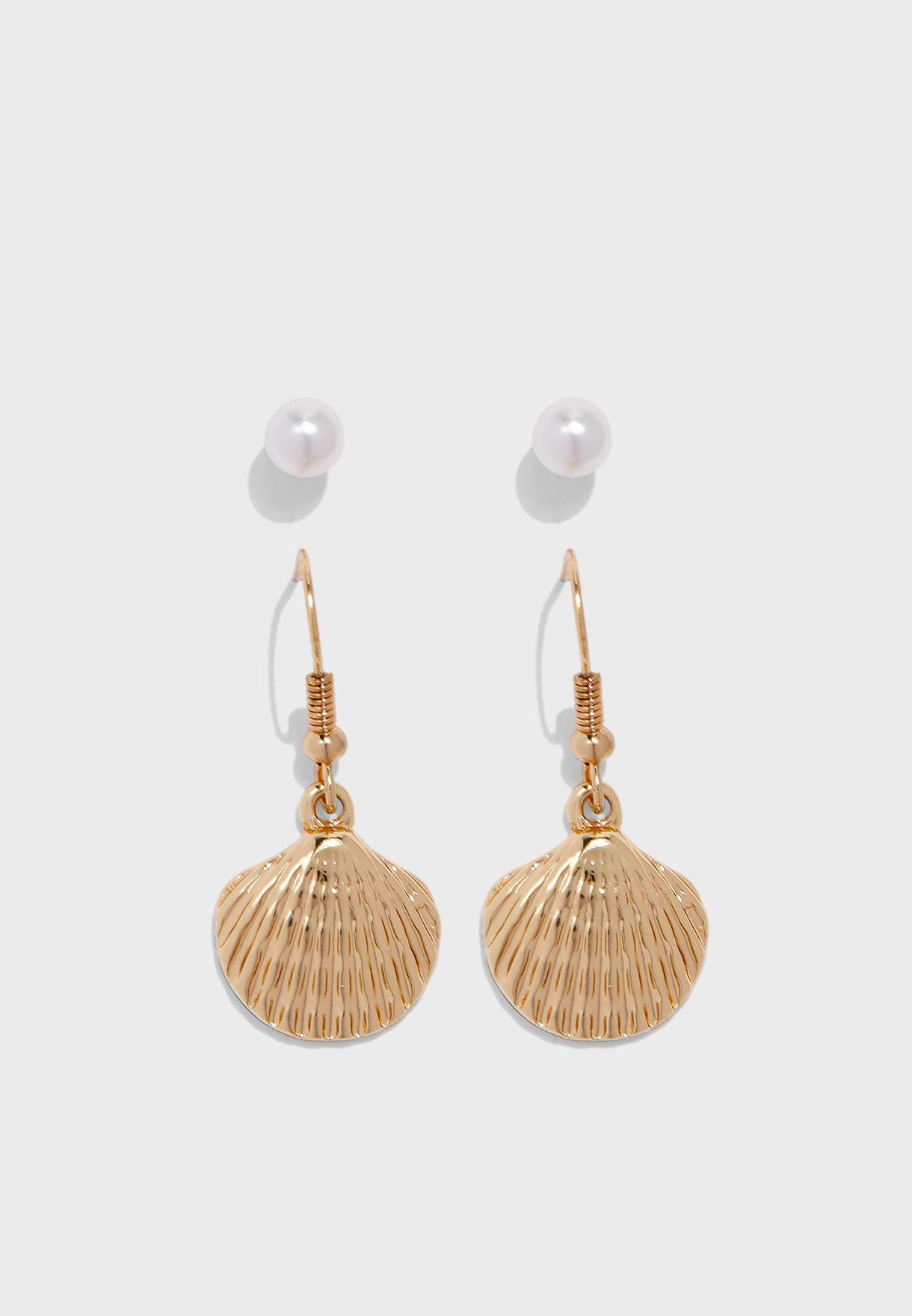 Multipack Nara Sea Shell Earrings