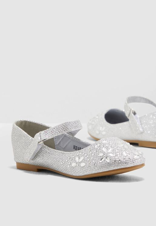 Glitter Mary Jane Ballerinas