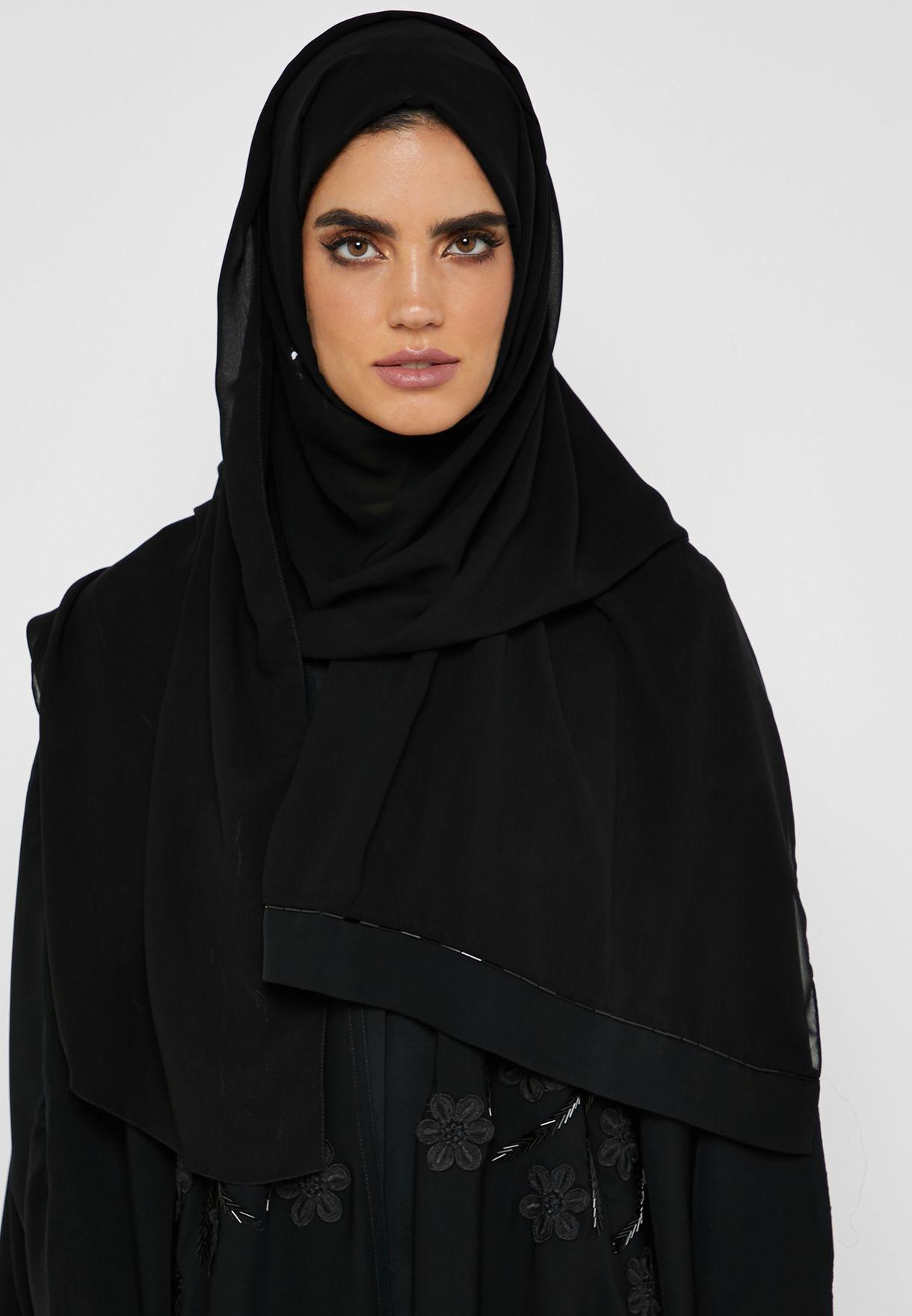 Embroidered Beaded Abaya