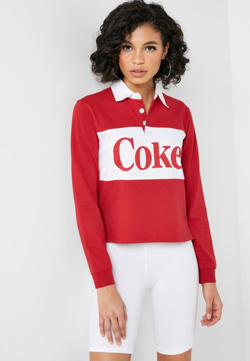 Coke Long Sleeve Polo Shirt