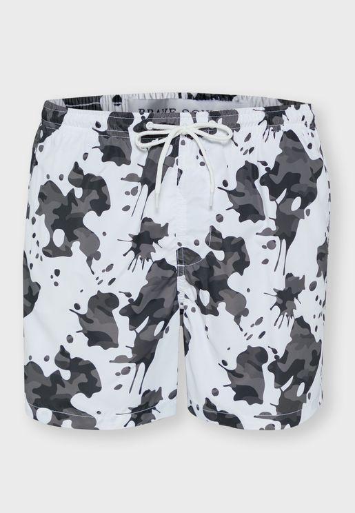 Camo Print Swim Short