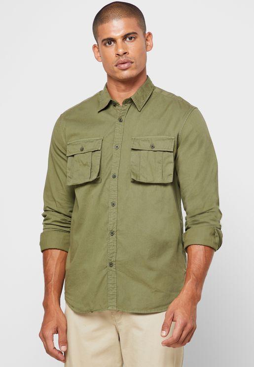 Long Sleeve Cargo Pocket Shirt