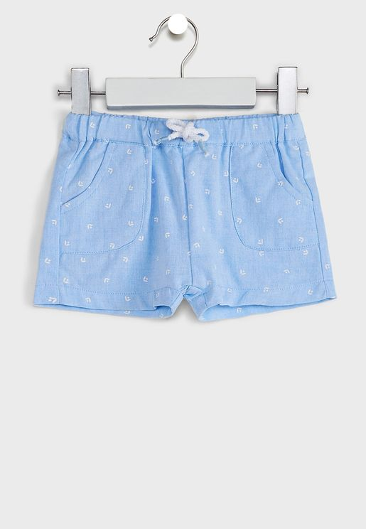 Infant Floral Print Shorts