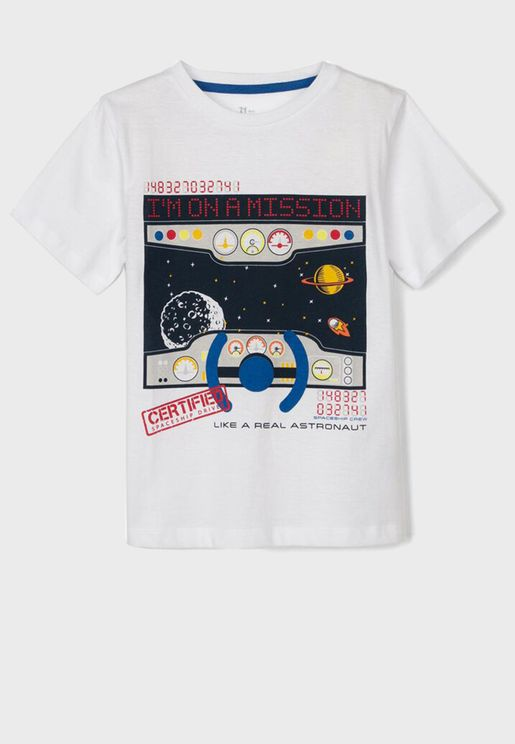 Kids Like A Real Astronaut T-Shirt
