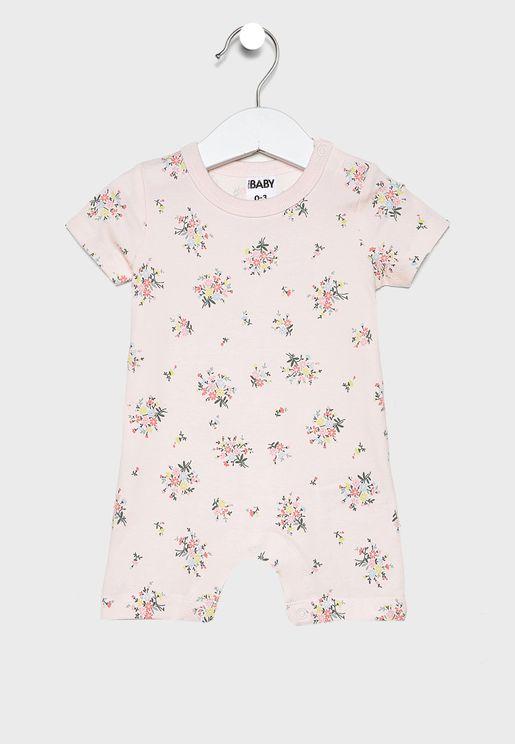Infant Floral Romper
