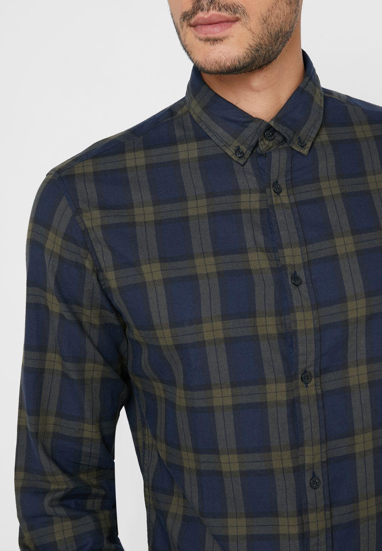 Mahone Checked Slim Fit Shirt