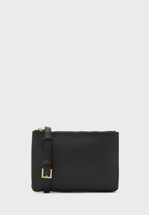 Unstructured Zip Closure Crossbody