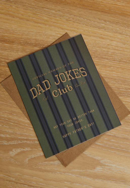 Dad Jokes Club Card